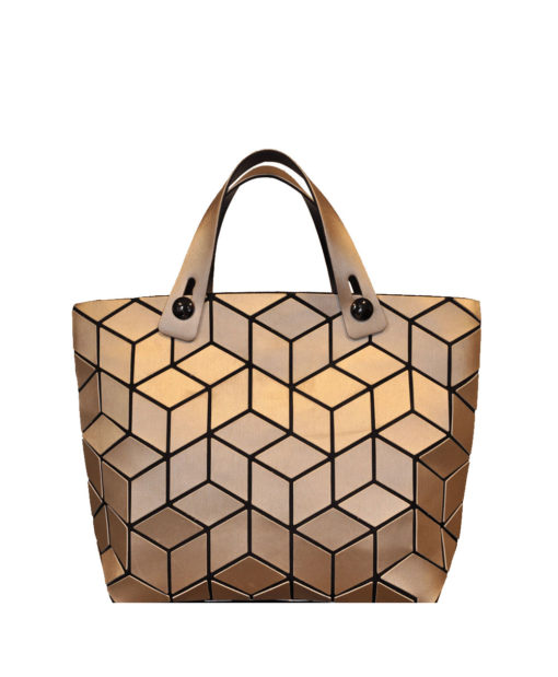 MATTE GOLD GEOMETRIC MINI TOTE HANDBAG
