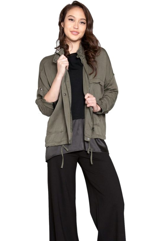 olive green utility jacket army outerwear patrizia luca style Barami fashion fall jacket spring trend love shopping