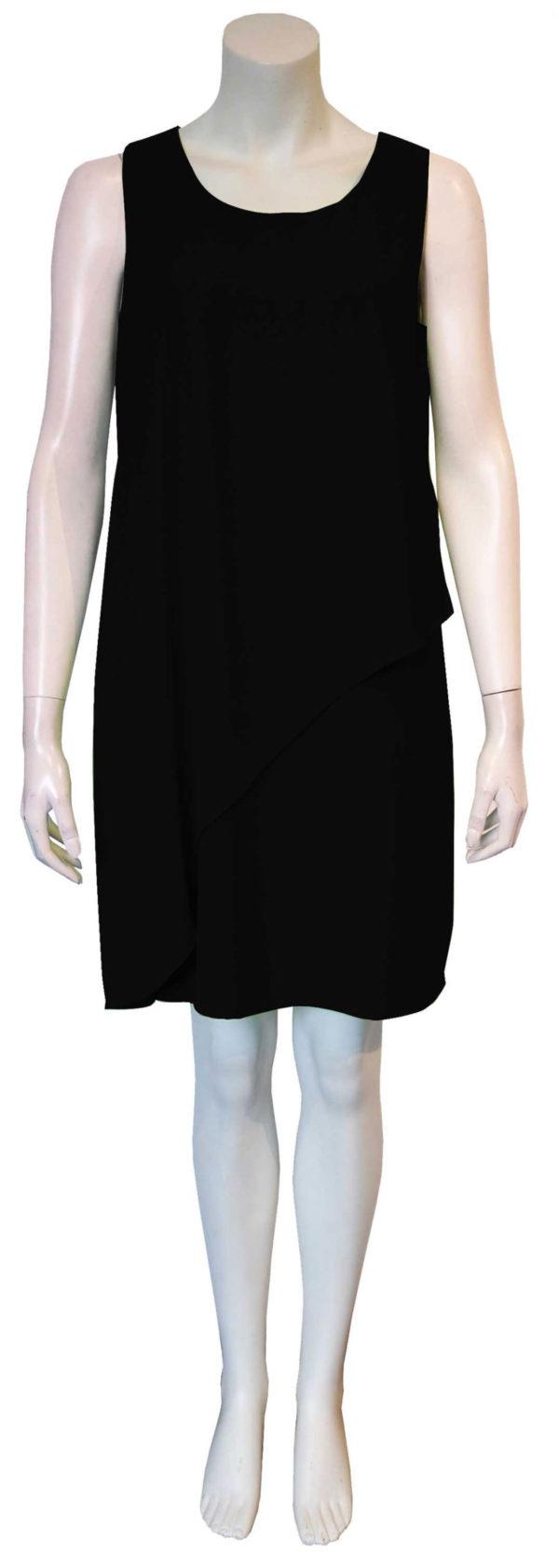 black sheath dress- front