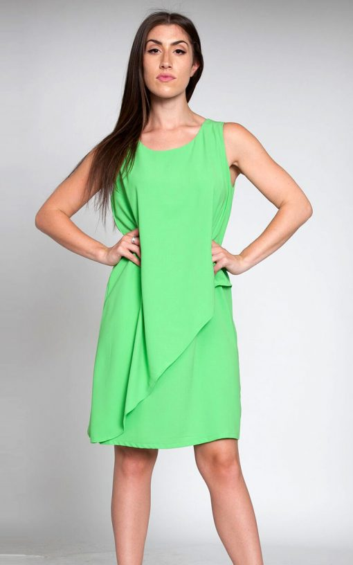 green sheath dress- front