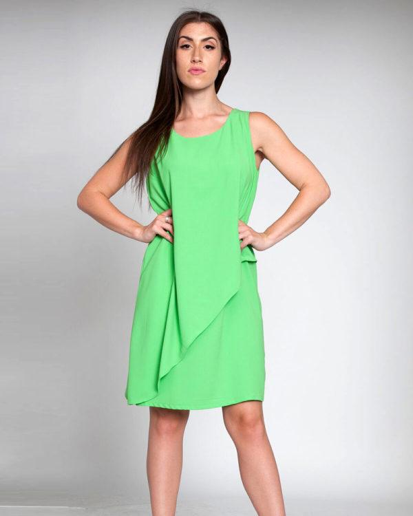 green sheath dress- front