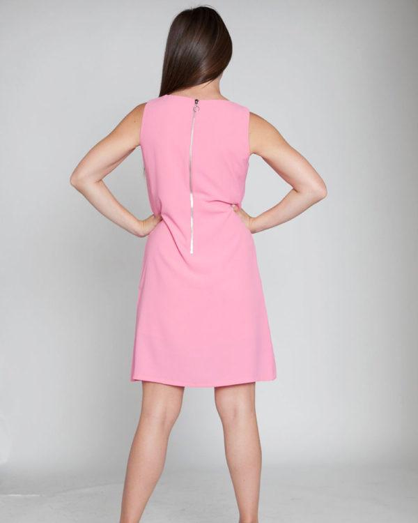 pink sheath dress- back