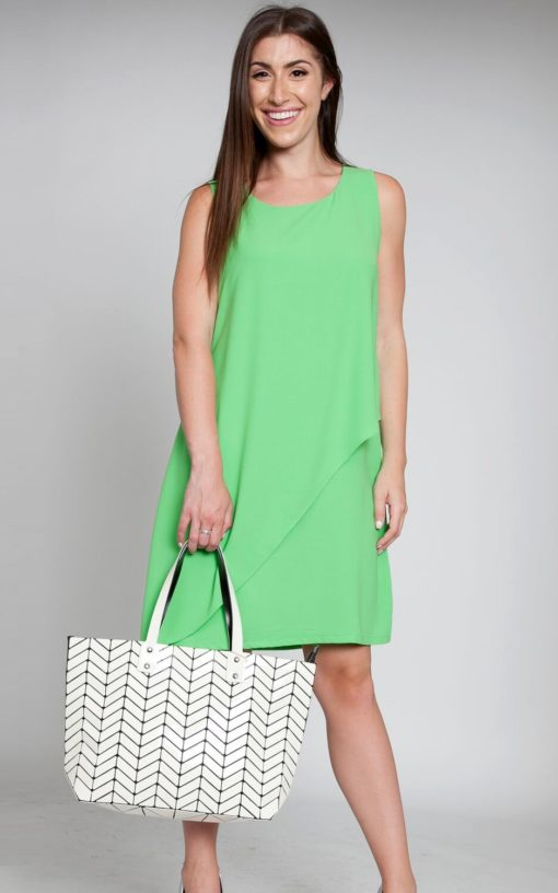 layered green sheet dress chiffon style spring fashion love NYC Barami patrizia Luca Milano sale shopping