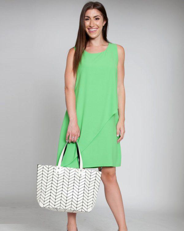 layered green sheet dress chiffon style spring fashion love NYC Barami patrizia Luca Milano sale shopping