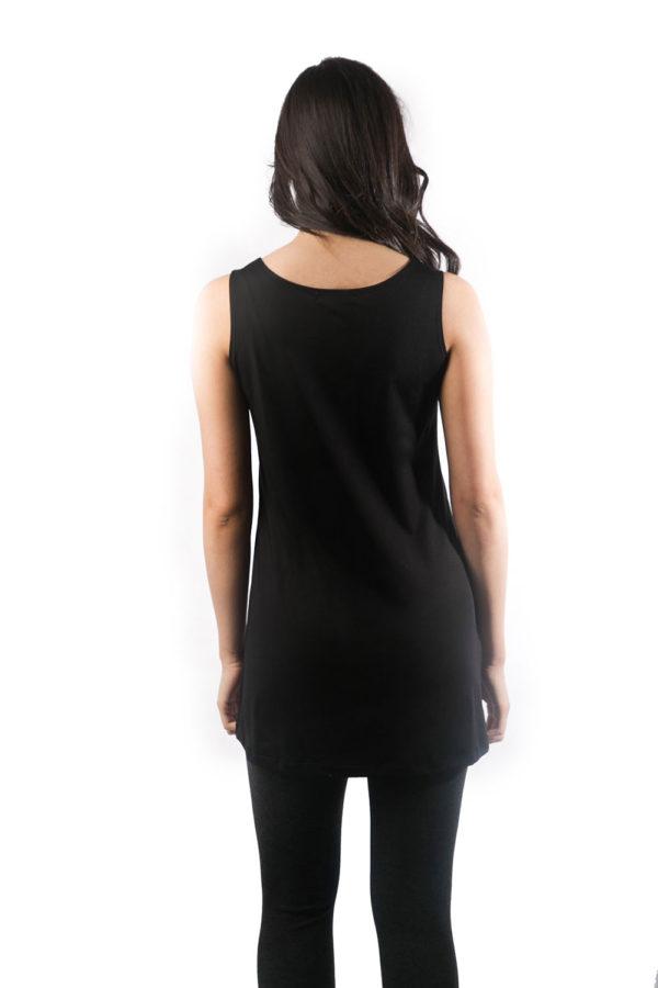 black basic camisole back