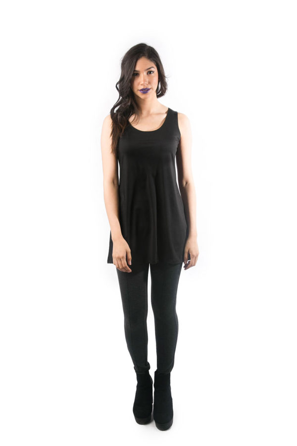 black basic camisole front