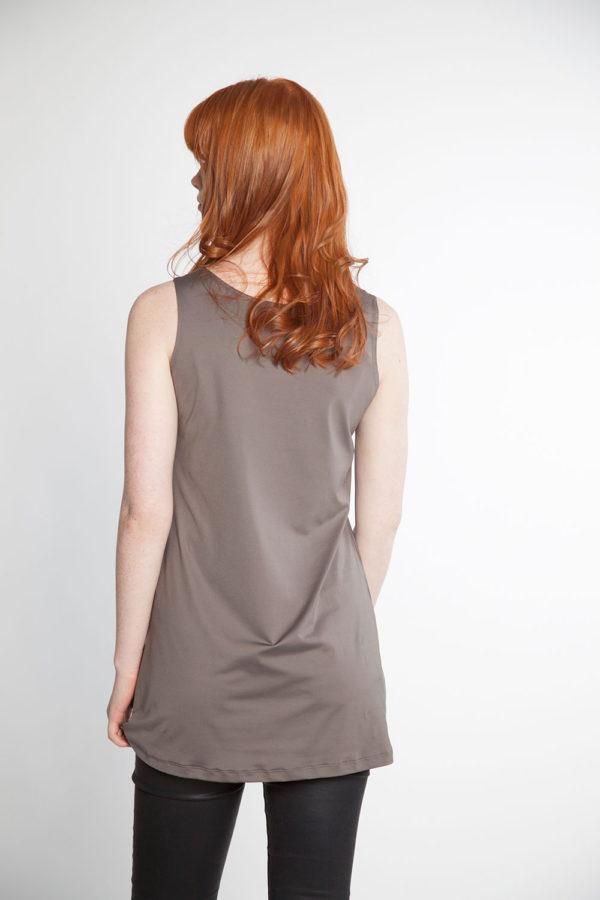 grey basic camisole back