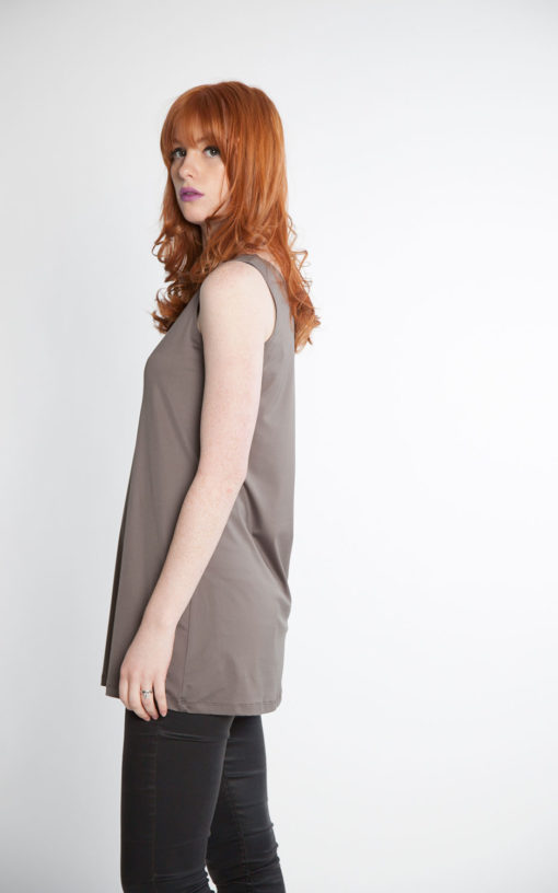 grey basic camisole side