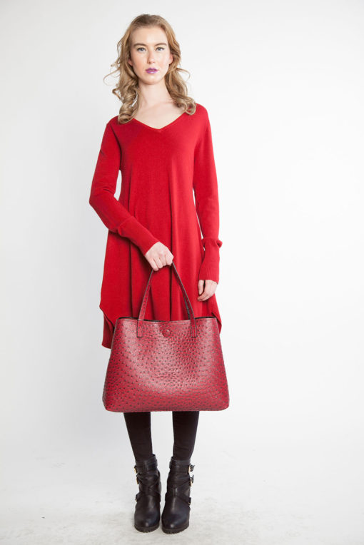 red knit sweater- front