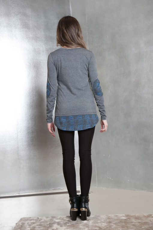 grey long sleeve patch- back