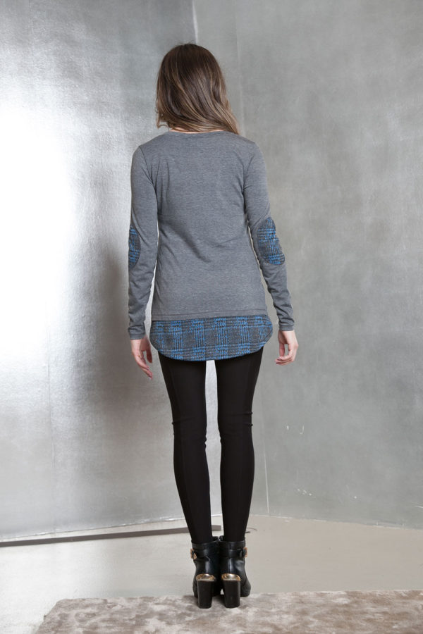 grey long sleeve patch- back