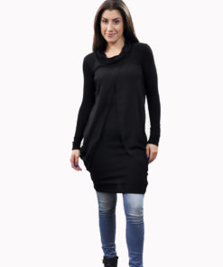 black layered tunic- front