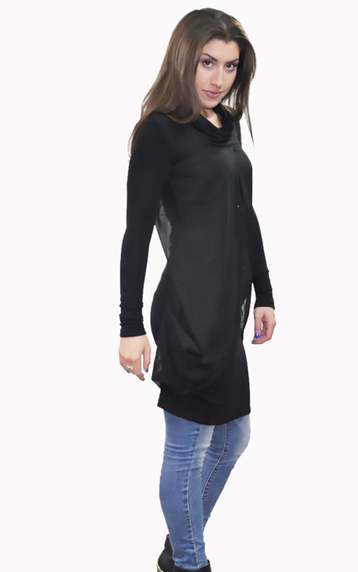 black layered tunic- side
