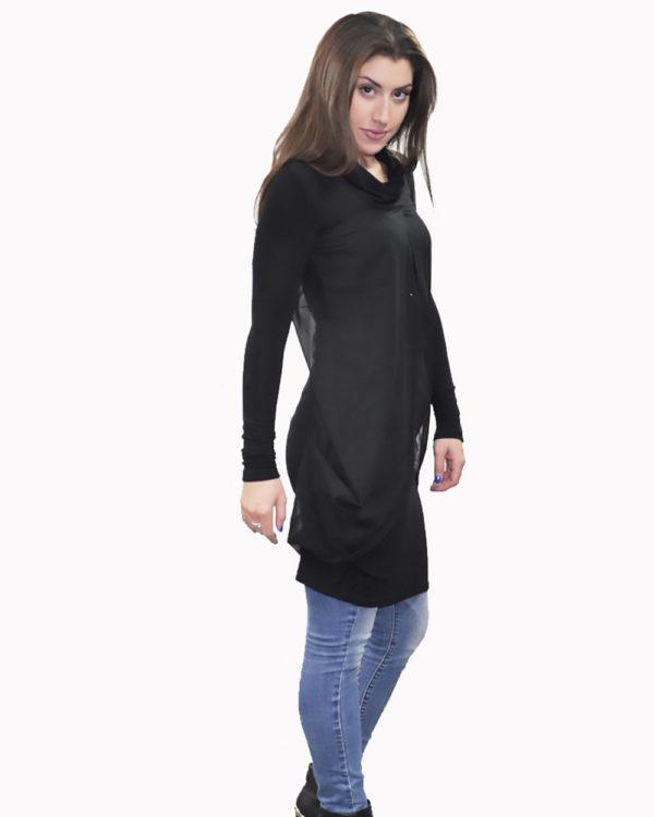 black layered tunic- side