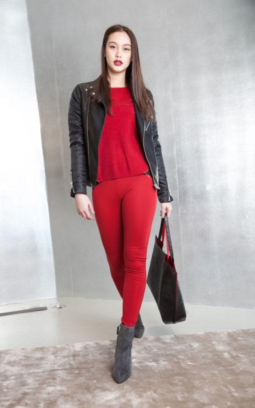 multimedia black puffy jacket- front