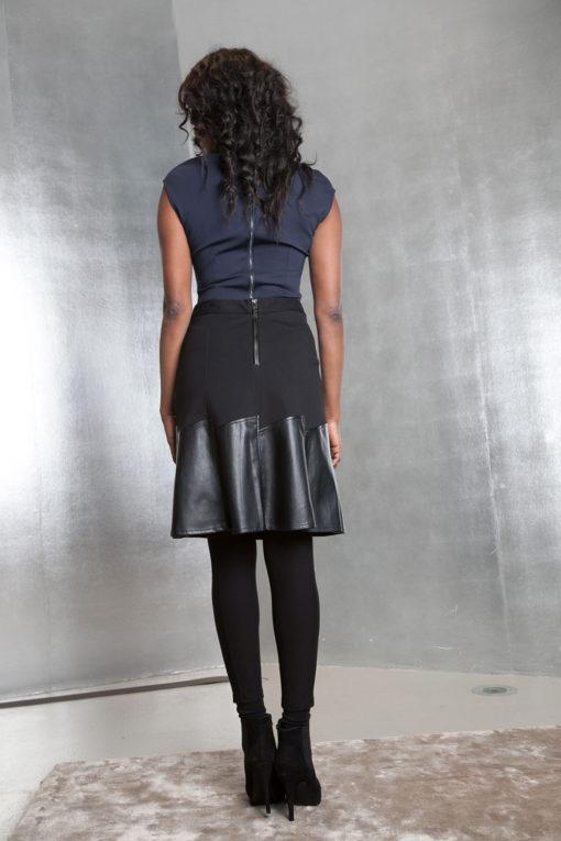 black multimedia skirt- back