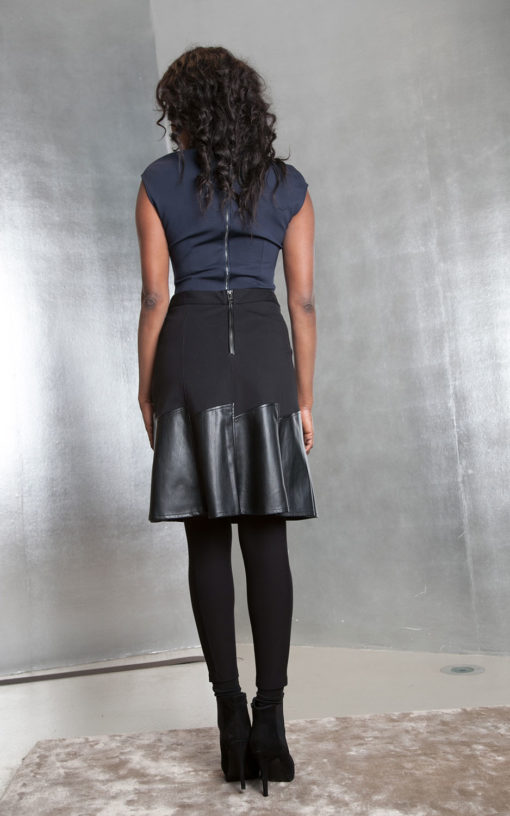 black multimedia skirt- back