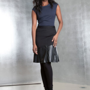 black multimedia skirt- front