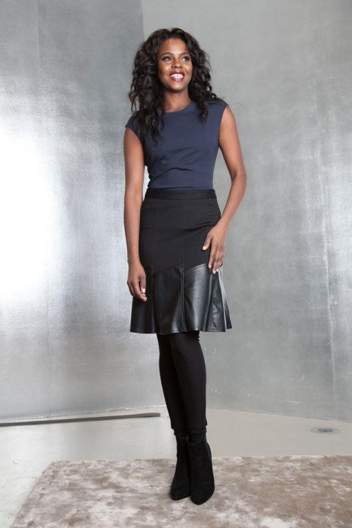 black multimedia skirt- front