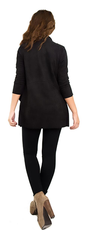 black ultra suede jacket- back