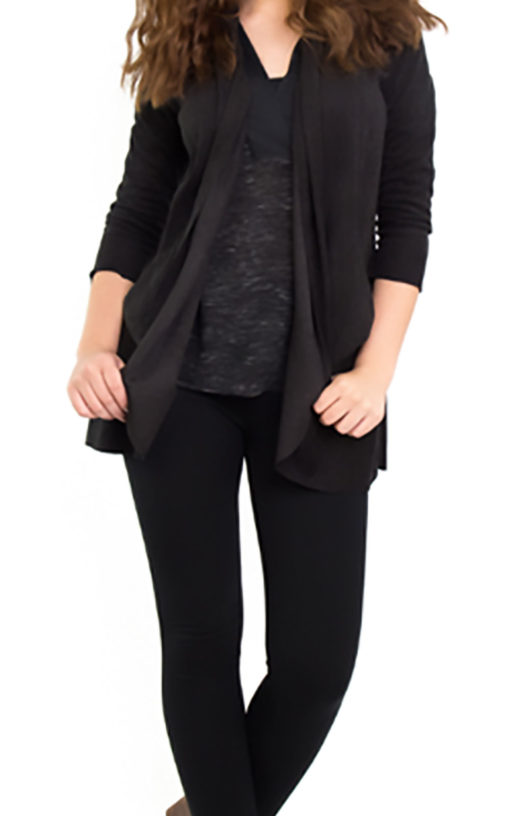 black ultra suede jacket- front