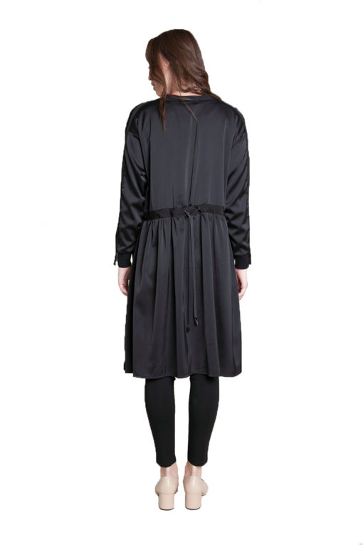 black duster with tie- back