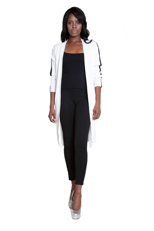 white duster with tie- front