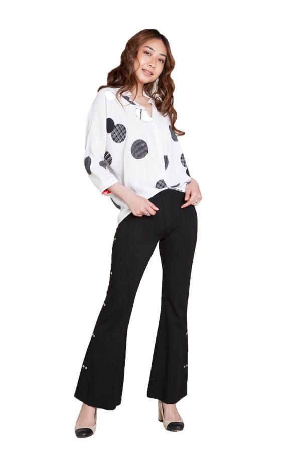 black side hardware pants- front