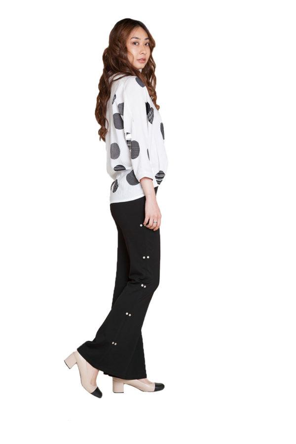 black side hardware pants- side