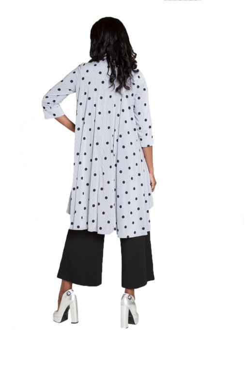 printed asymmetrical blouse- back