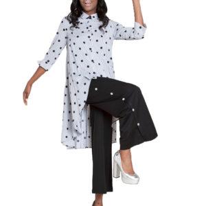 printed asymmetrical blouse- side