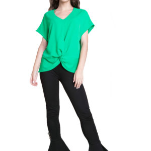 green knot front top- root