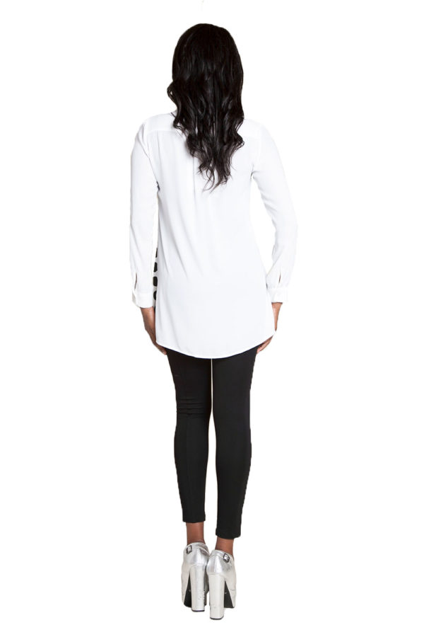 oversized printed blouse- back