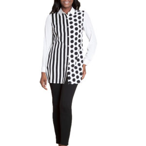oversized printed blouse- front