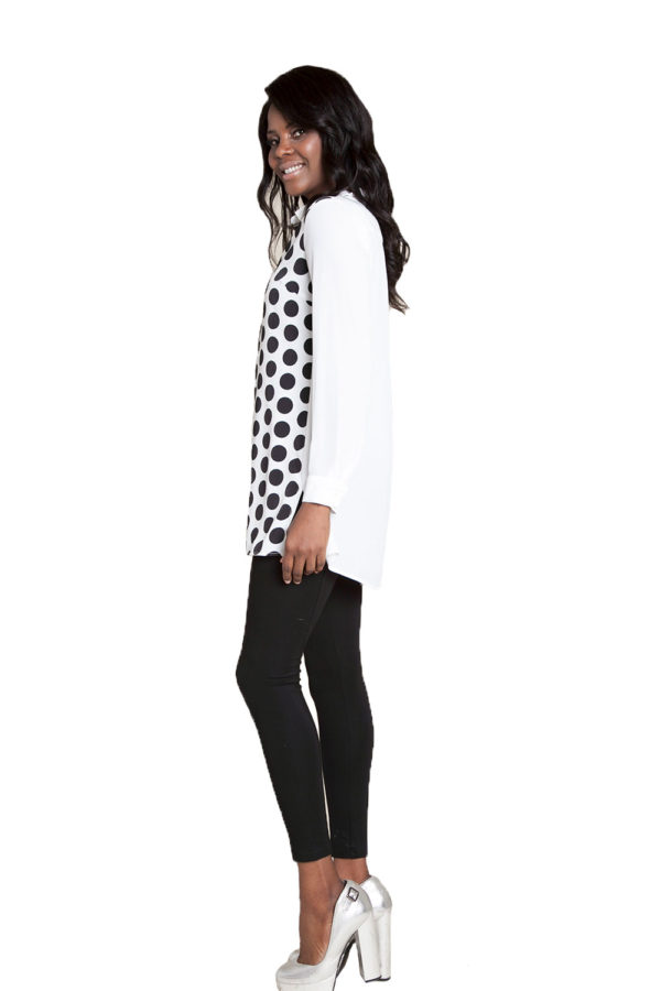 oversized printed blouse- side