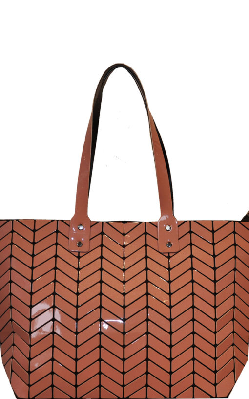 geometric tote bag- blush
