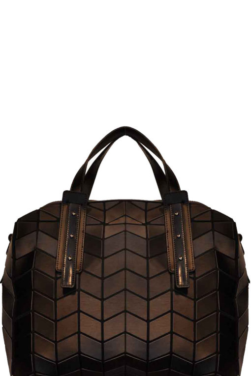 geometric duffle bag- black
