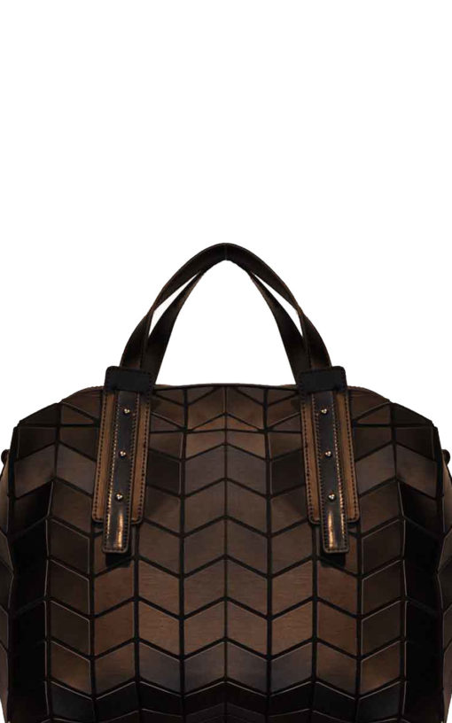 geometric duffle bag- black