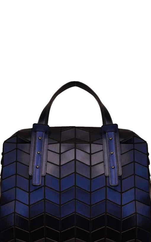 Geometric duffle bag- blue