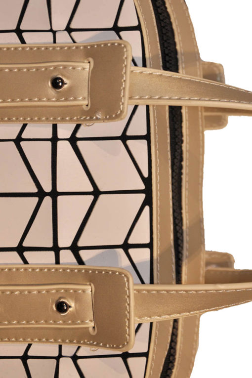 geometric duffle bag- gold