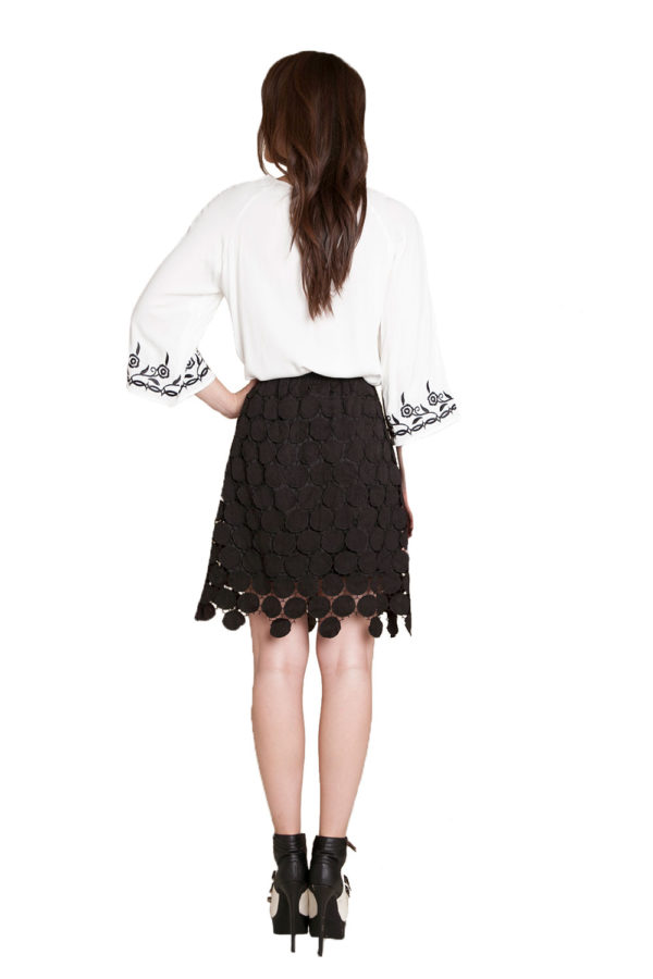 black crochet skirt- back