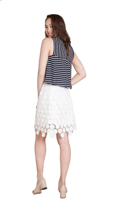 white crochet skirt- back