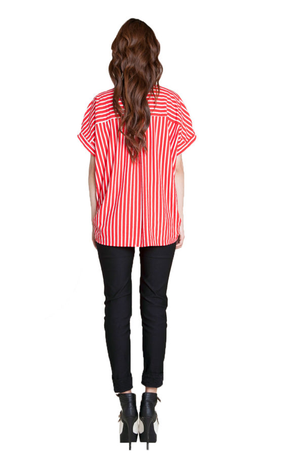 red striped shirt- back