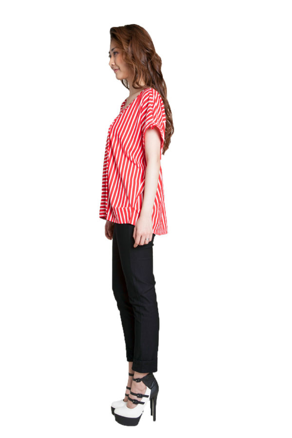 red striped shirt- side