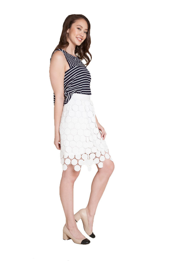navy stripe sleeveless top- side