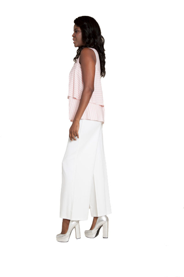 pink stripe sleeveless top- side