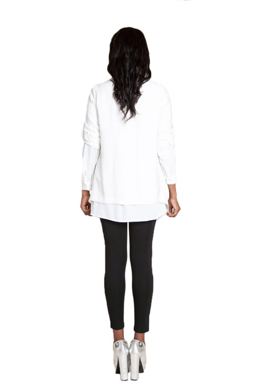 white lightweight jacket- back