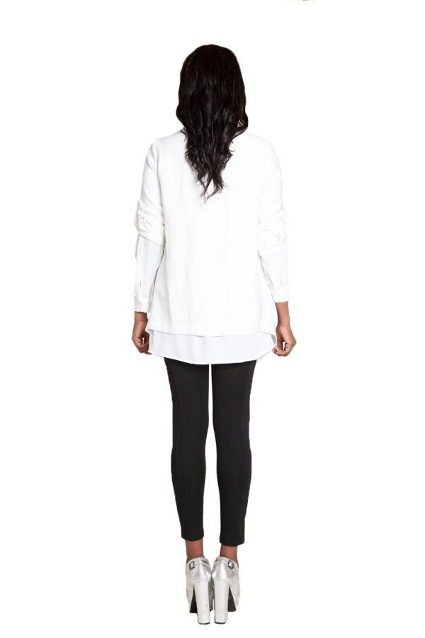 white lightweight jacket- back