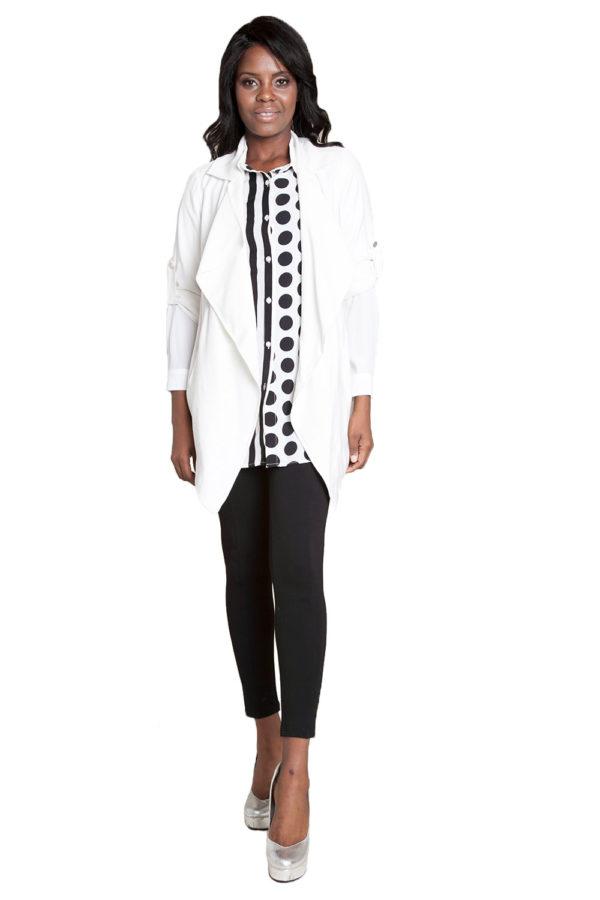 white lightweight jacket- front