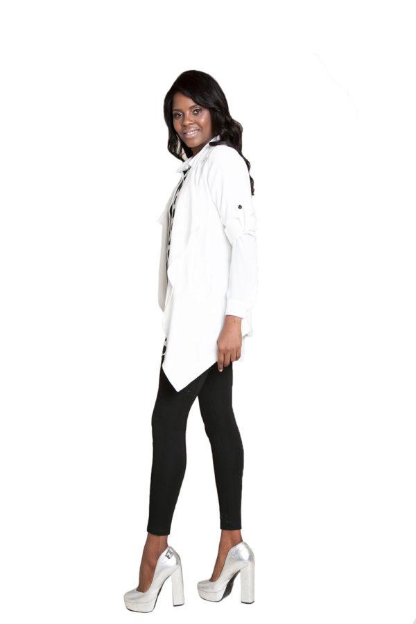 white lightweight jacket- side